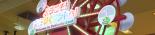 観覧車型LED回転オブジェ「ラスベガスホイール(赤色)」です。中央には店舗ロゴをお入れします。見ているだけで楽しい店内装飾です。